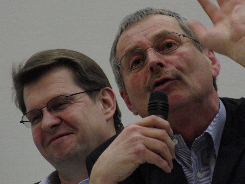 Ralf Stegner und Willi Voigt