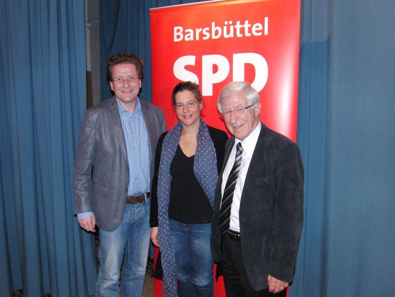 v.l.n.r. Martin Habersaat, Nina Scheer, Franz Alt