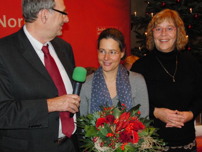 v.l.n.r. Peter Eichstädt, Nina Scheer, Susanne Danhier