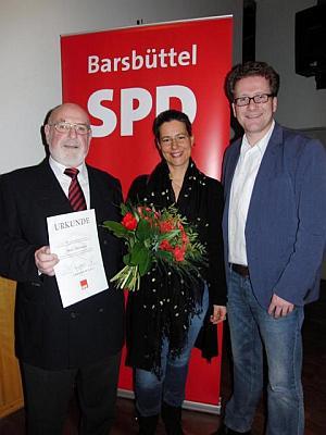 v.l.n.r. Peter Hartmann, Nina Scheer, Martin Habersaat