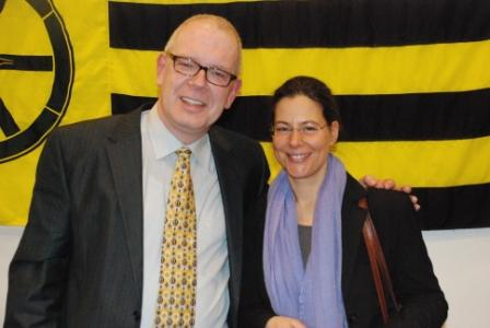 Wolgang Jurksch und Nina Scheer