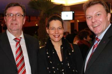 v.l.n.r.: Konrad Freiberg, Nina Scheer, Olaf Schulze