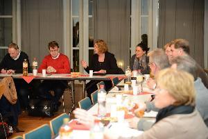 v.l.n.r.: Christian Kröning, Ralf Stegner, Susanne Danhier, Nina Scheer