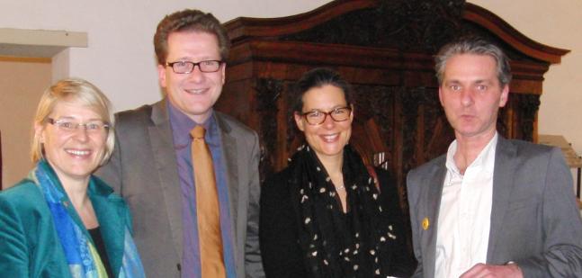 v.l.n.r. Kirstin Alheit, Martin Habersaat, Nina Scheer, Niels Brock