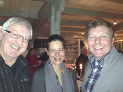 v.l.n.r.: OV-Vorsitzender SPD Lauenburg, Jens Meyer; Nina Scheer; Olaf Schulze, MdL