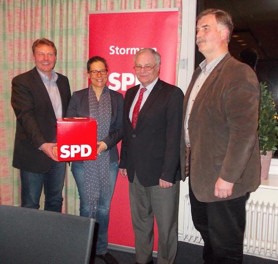v.l.n.r.: Olaf Schulze, Nina Scheer, Reinhard Mendel, Reinhard Niegengerd