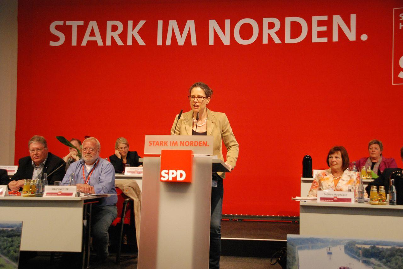 Nina Scheer auf dem Landesparteitag