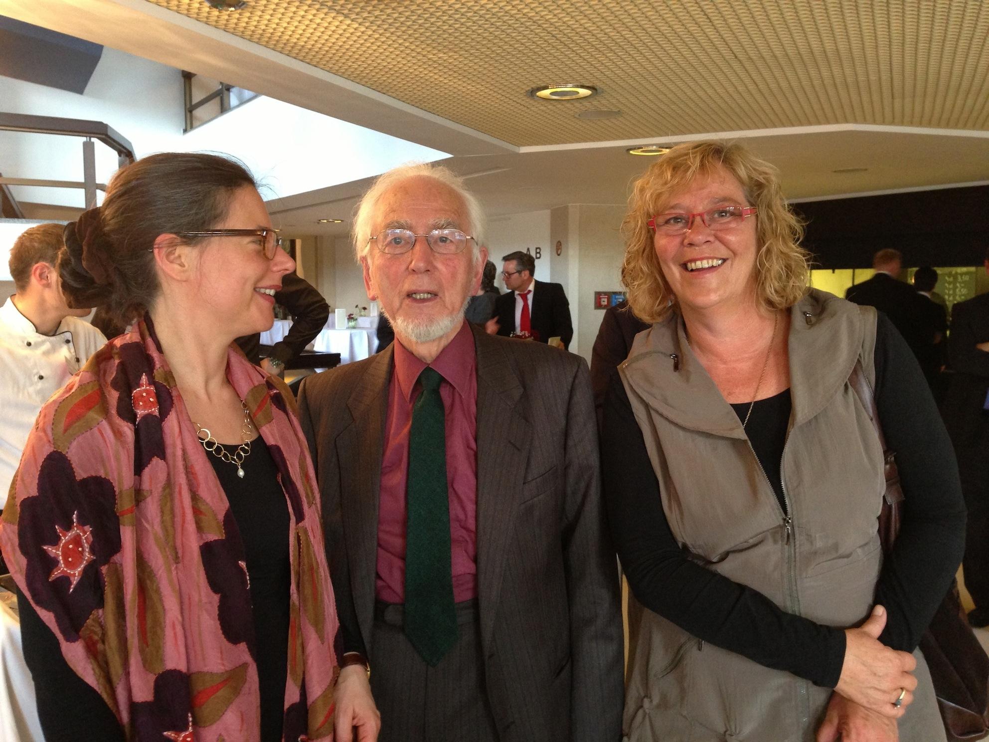 v.l.n.r.: Nina Scheer, Erhard Eppler, Susanne Danhier