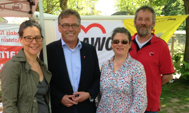 v.l.n.r.: Nina Scheer, Uwe Polkaehn, Simone Kroll, Uwe Frensel