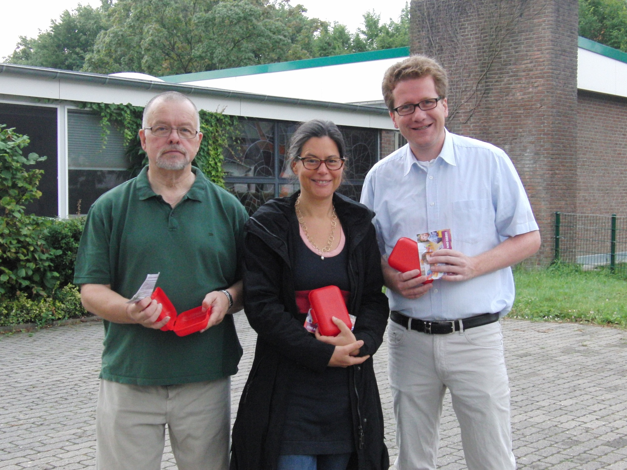 v.l.n.r.: Heinrich Dippel, Nina Scheer, Martin Habersaat