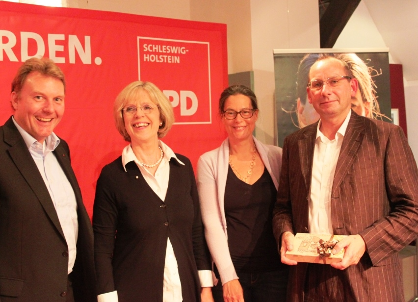v.l.n.r.: Olaf Schulze, Bärbel Dieckmann, Dr. Nina Scheer, Dr. Dirk Steglich