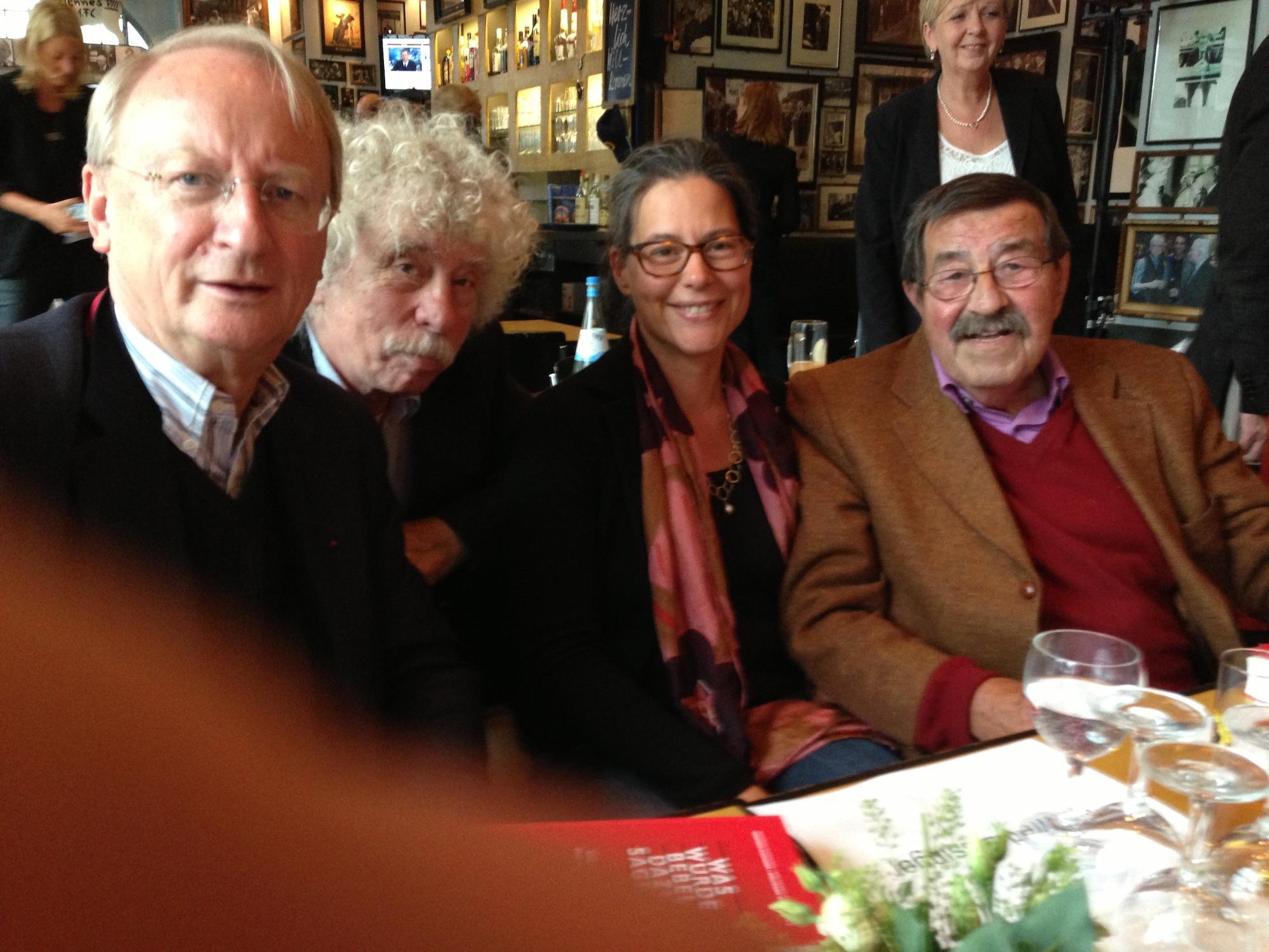 v.l.n.r.: Klaus Staeck, Johano Strasser, Nina Scheer, Günter Grass