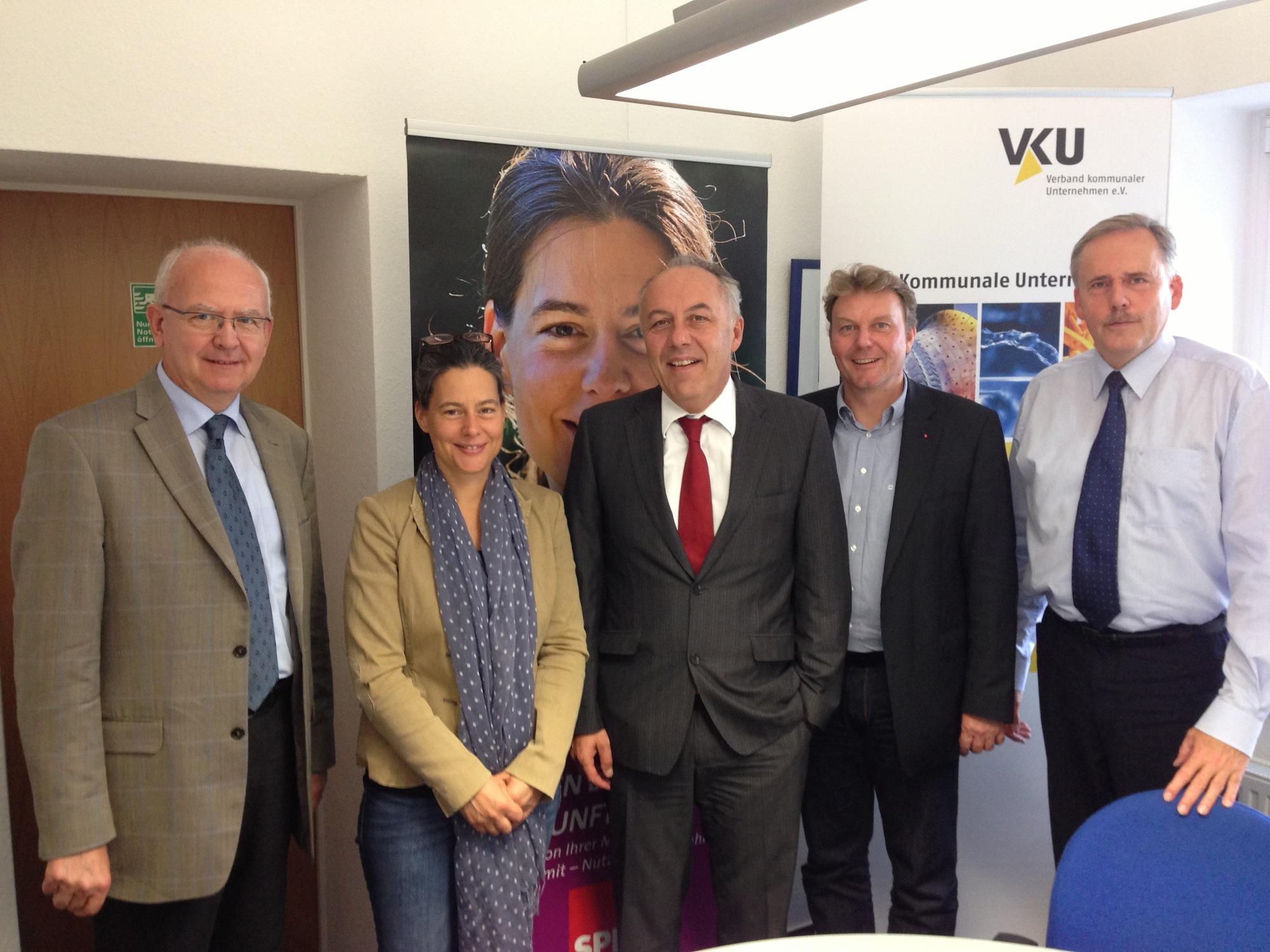 v.l.n.r.: Dieter Perdelwitz, Nina Scheer, Matthias Machnig, Olaf Schulze, Detlef Palm