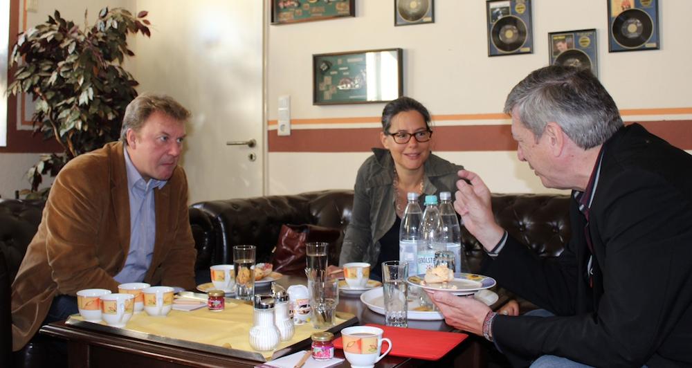 v.l.n.r.: Olaf Schulze, Nina Scheer, Harry Lehmann