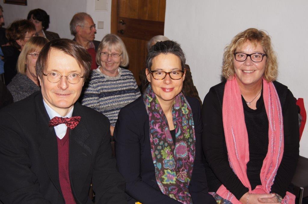 Foto: Karl Lauterbach, Nina Scheer und Susanne Danhier © Günther Heitmann