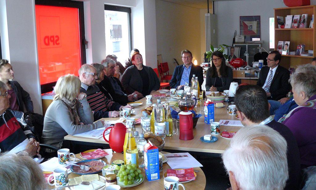 Foto: Politisches Frühstück im Wahlkreisbüro Geesthacht
