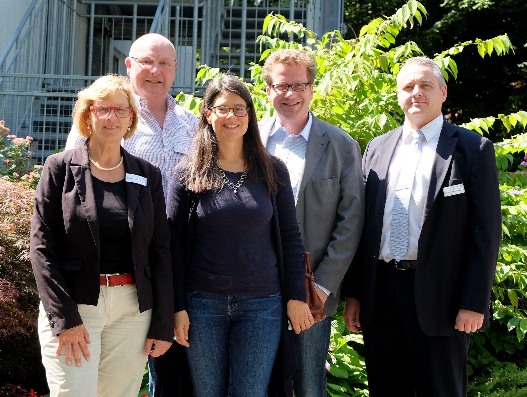 v.l.: Knigge, Hein, Scheer, Habersaat, Pommerenke