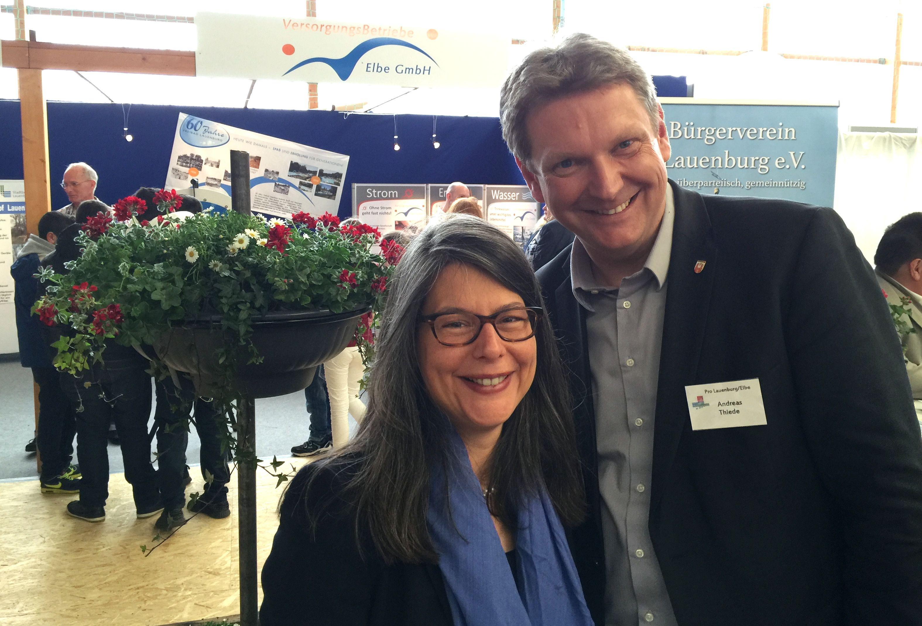 Nina Scheer und Andreas Thiede, Bürgermeister Lauenburg