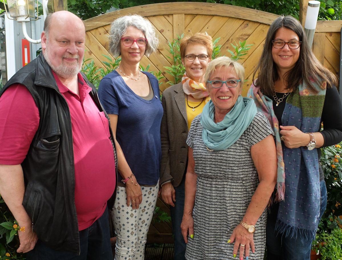 Foto v.l.: Reiner Kiehn, Nicola Gesche, Cornelia Kraft, Roswitha Bartz, Nina Scheer